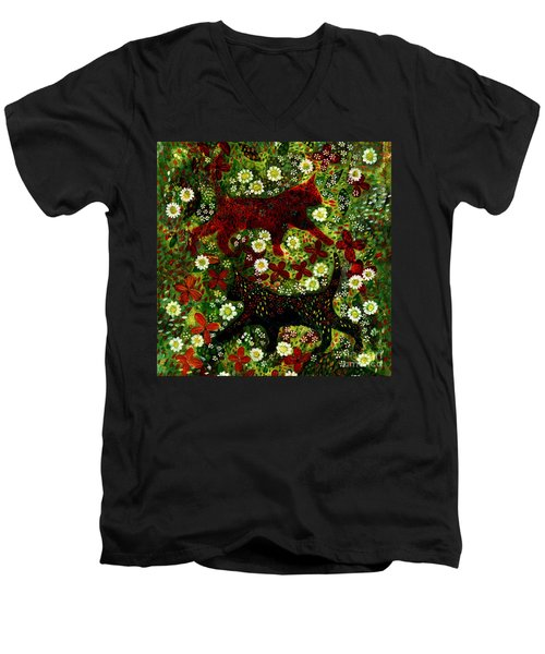 Garden Cats Men's V-Neck T-Shirt
