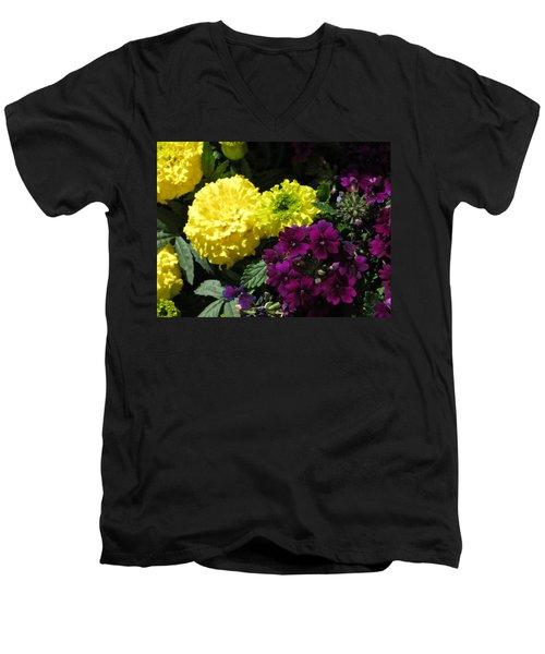 Garden Contrast Men's V-Neck T-Shirt