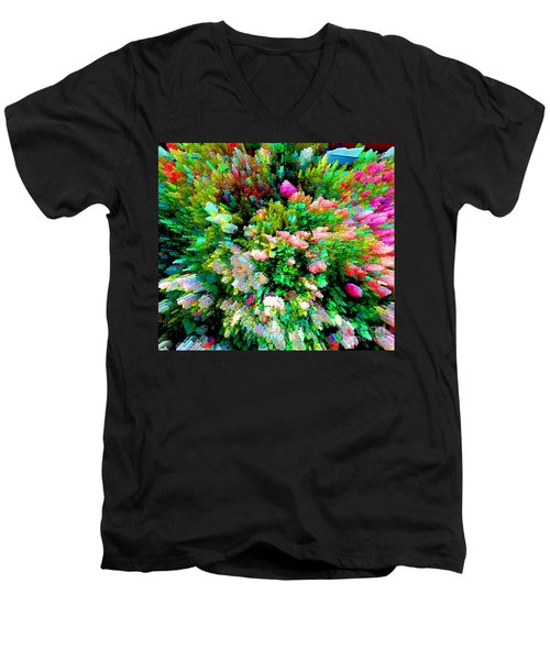 Garden Explosion Men's V-Neck T-Shirt