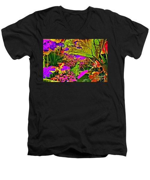 Garden Of Color Men's V-Neck T-Shirt