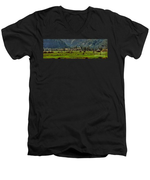 Garden Valley Elk Herd Men's V-Neck T-Shirt