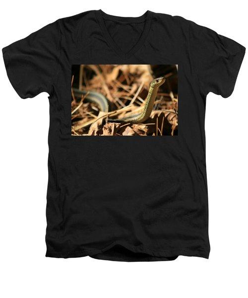 Garter View Men's V-Neck T-Shirt