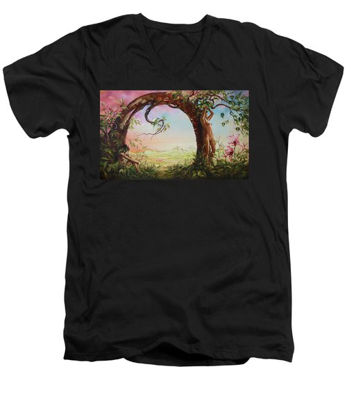 Gate Of Illusion Men's V-Neck T-Shirt