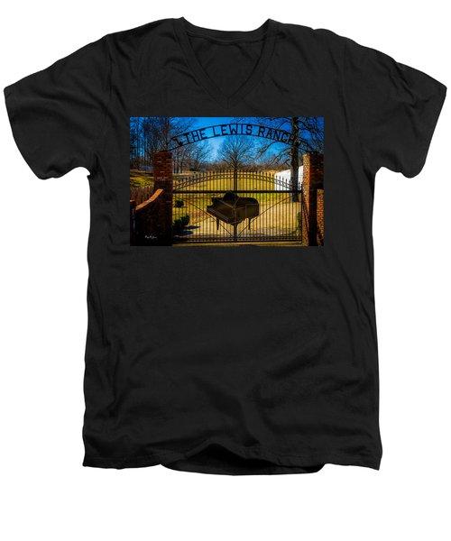 Gates Of Rock And Roll Men's V-Neck T-Shirt