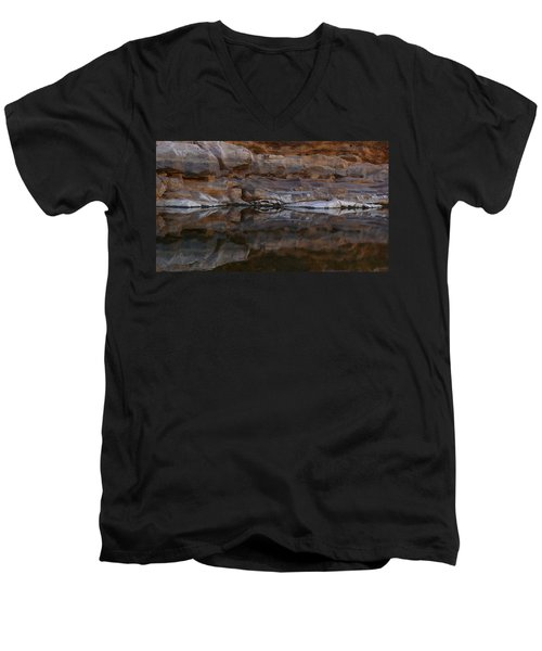 Men's V-Neck T-Shirt featuring the photograph Gateway by Evelyn Tambour