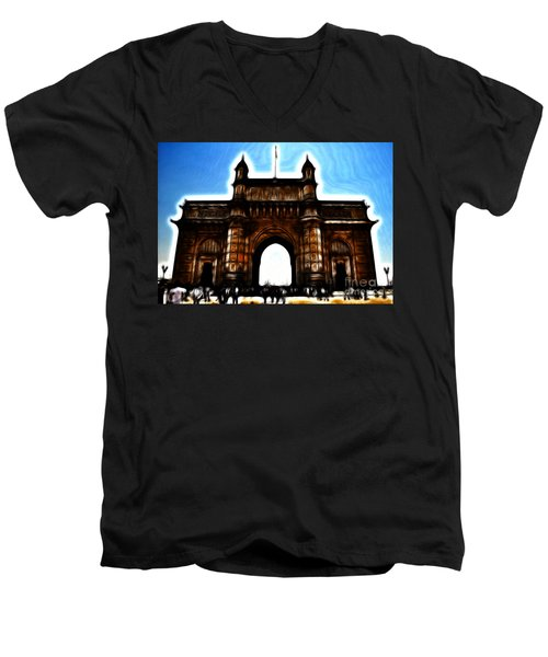 Gateway To Fractalius Men's V-Neck T-Shirt