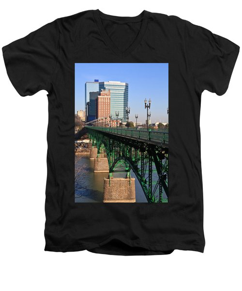 Gay Street Bridge Knoxville Men's V-Neck T-Shirt