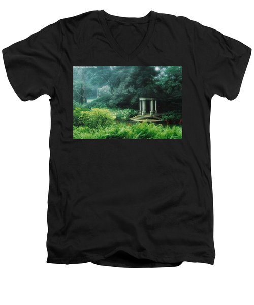 Gazebo Longwood Gardens Men's V-Neck T-Shirt
