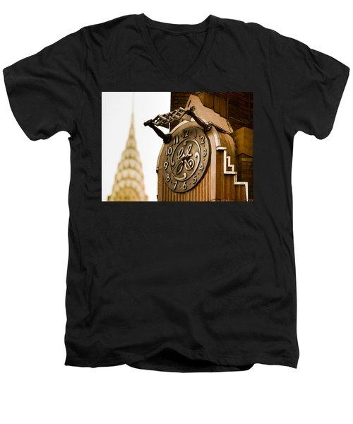 General Electric Building 2 Men's V-Neck T-Shirt
