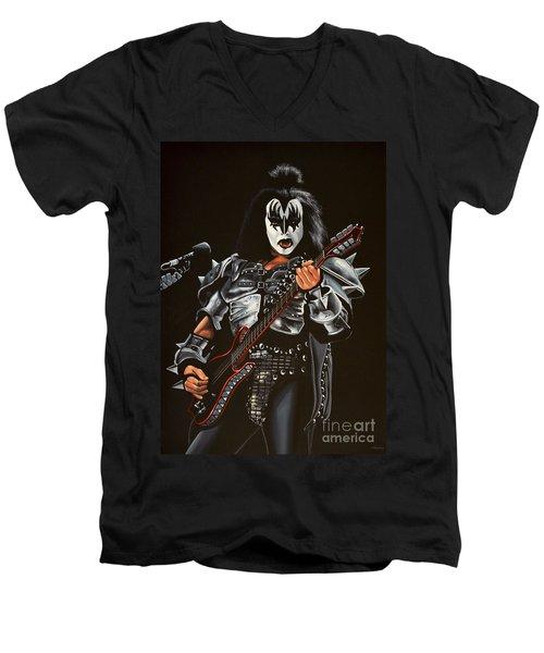 Gene Simmons Of Kiss Men's V-Neck T-Shirt