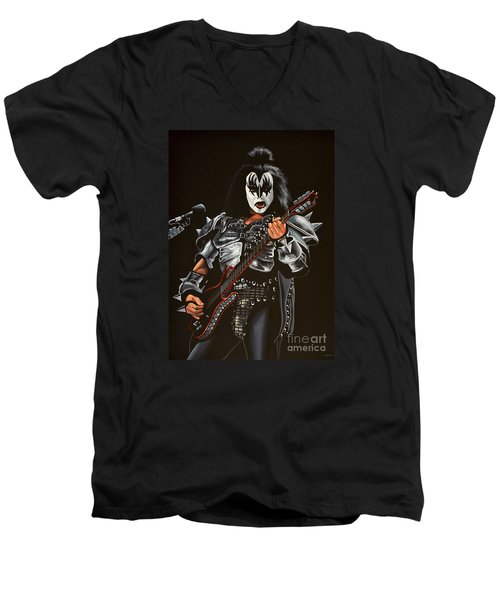 Gene Simmons Of Kiss Men's V-Neck T-Shirt