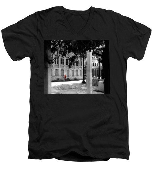 Gentle Warrior On Strand Street Men's V-Neck T-Shirt