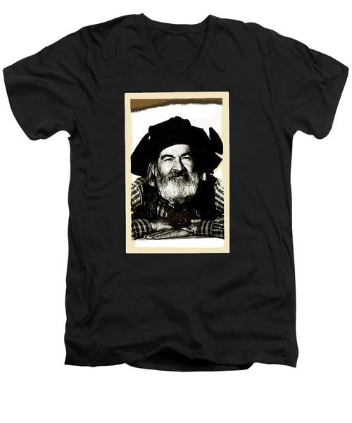 George Hayes Portrait #1 Card Men's V-Neck T-Shirt by David Lee Guss