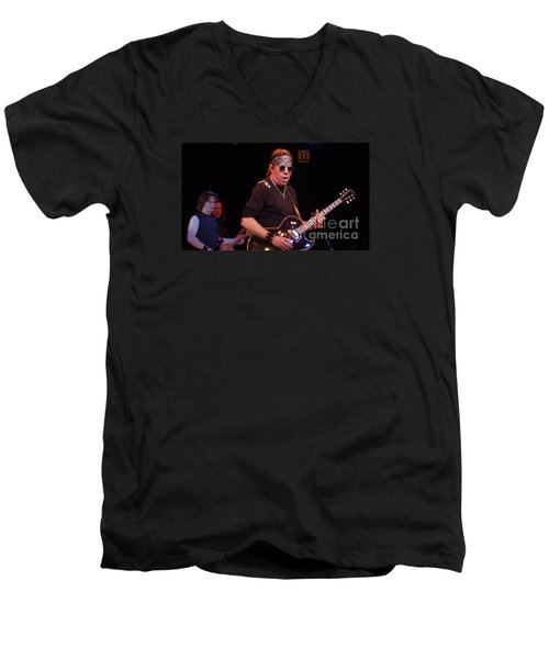 Men's V-Neck T-Shirt featuring the photograph George Thorogood by John Telfer