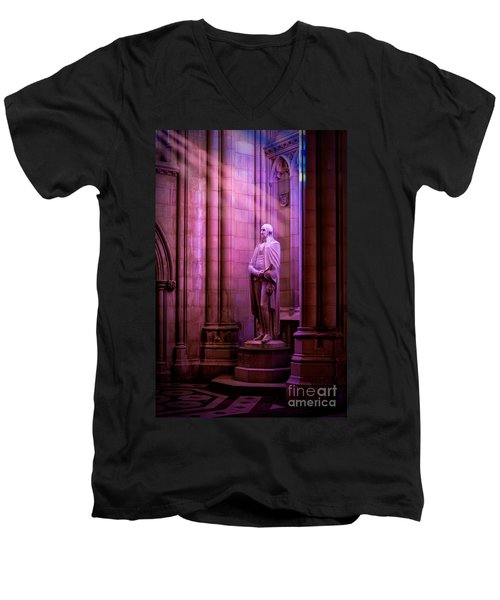 George Washington At The National Cathedral Men's V-Neck T-Shirt
