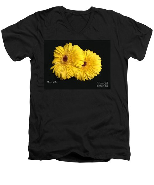 Gerber Babies 2 Men's V-Neck T-Shirt by Becky Lupe