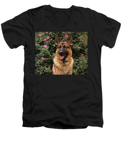 German Shepherd Dog Men's V-Neck T-Shirt