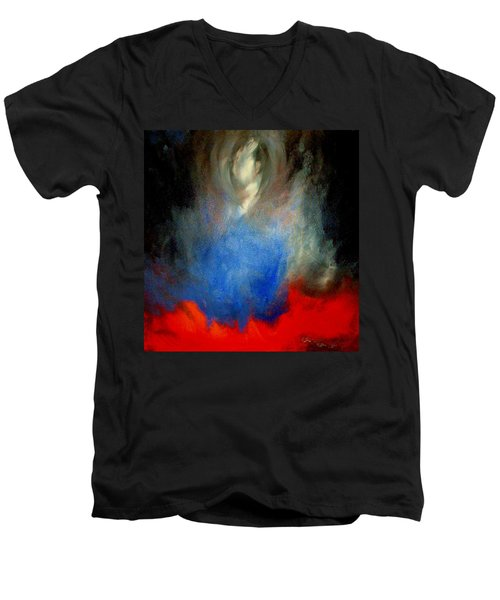 Men's V-Neck T-Shirt featuring the painting Ghost by Lisa Kaiser