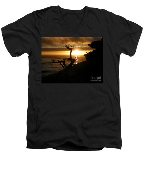 Ghost Tree At Sunset Men's V-Neck T-Shirt