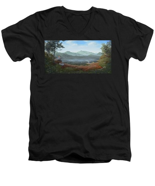 Girls Day Out Men's V-Neck T-Shirt by Duane R Probus