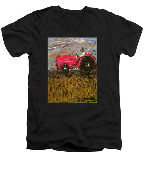Gitin It Done Men's V-Neck T-Shirt