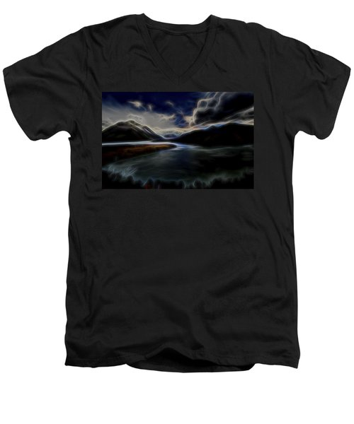 Glacial Light 1 Men's V-Neck T-Shirt by William Horden