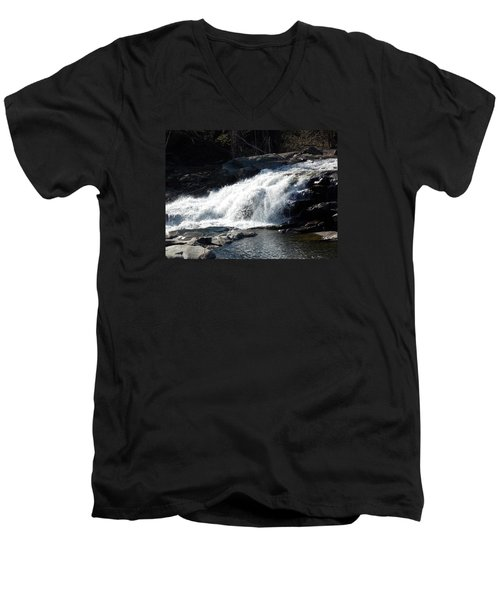 Glacial Potholes Falls Men's V-Neck T-Shirt by Catherine Gagne