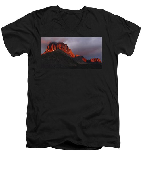 Glacier Sunrise Men's V-Neck T-Shirt