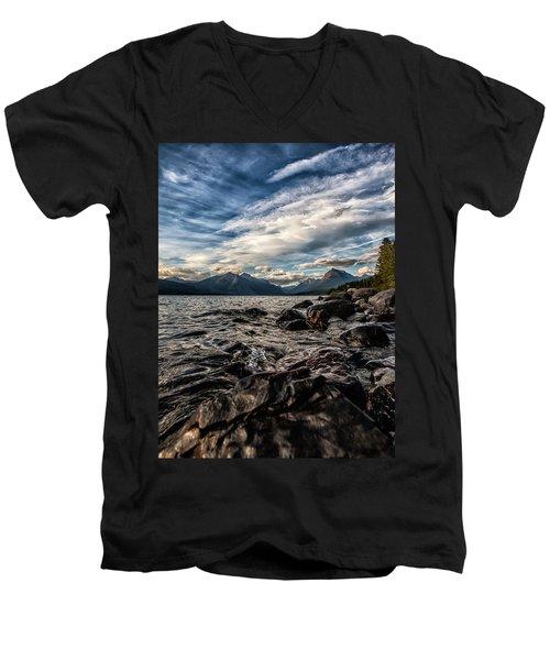 Glacier Whispers Men's V-Neck T-Shirt by Aaron Aldrich