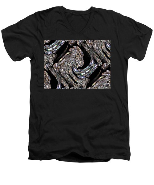 Glass Bird Men's V-Neck T-Shirt by Kristin Elmquist