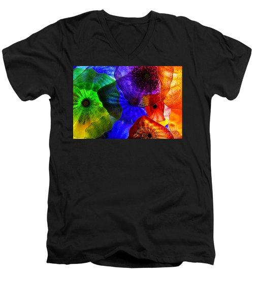 Glass Palette Men's V-Neck T-Shirt by Kasia Bitner