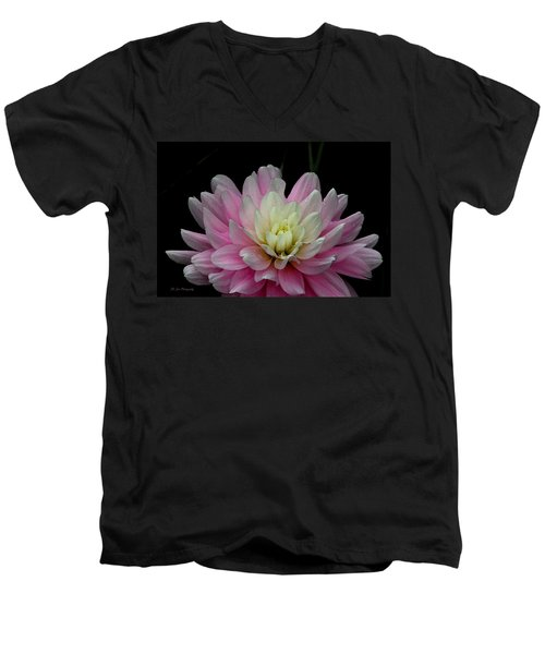 Glistening Dahlia Radiance Men's V-Neck T-Shirt