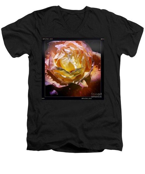 Glistening Rose Men's V-Neck T-Shirt