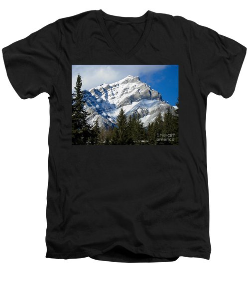 Glorious Rockies Men's V-Neck T-Shirt by Bianca Nadeau