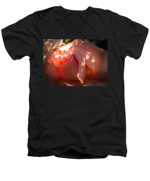 Men's V-Neck T-Shirt featuring the photograph Glowing Heart by Patricia Babbitt