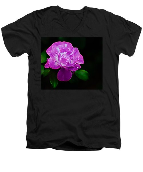 Glowing Rose II Men's V-Neck T-Shirt