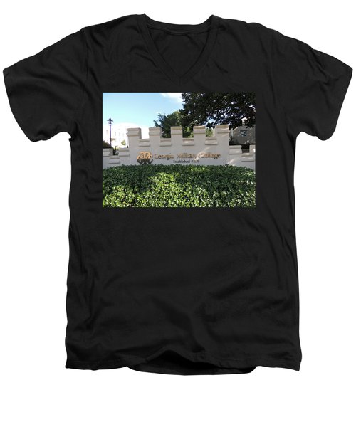 Men's V-Neck T-Shirt featuring the photograph Gmc Milledgeville by Aaron Martens