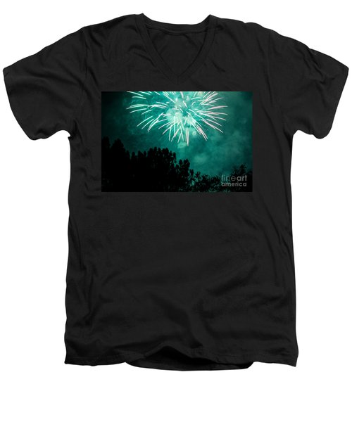 Men's V-Neck T-Shirt featuring the photograph Go Green by Suzanne Luft