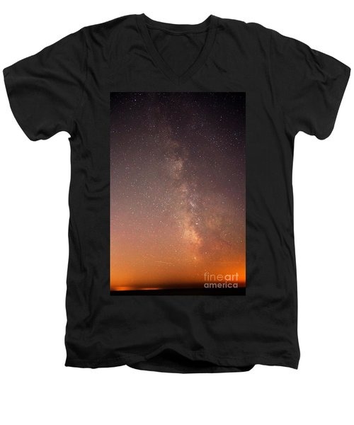 Men's V-Neck T-Shirt featuring the photograph God Did This by Robert Pearson