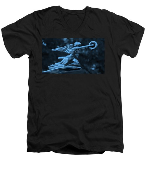 Men's V-Neck T-Shirt featuring the photograph Goddess Hood Ornament  by Patrice Zinck