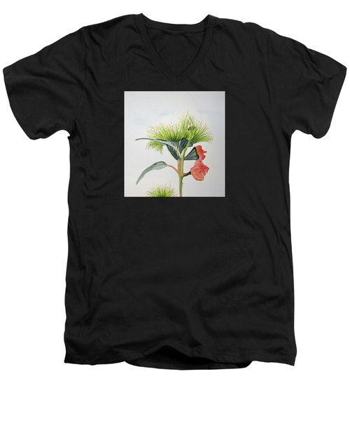 Flowering Gum Tree Men's V-Neck T-Shirt by Elvira Ingram