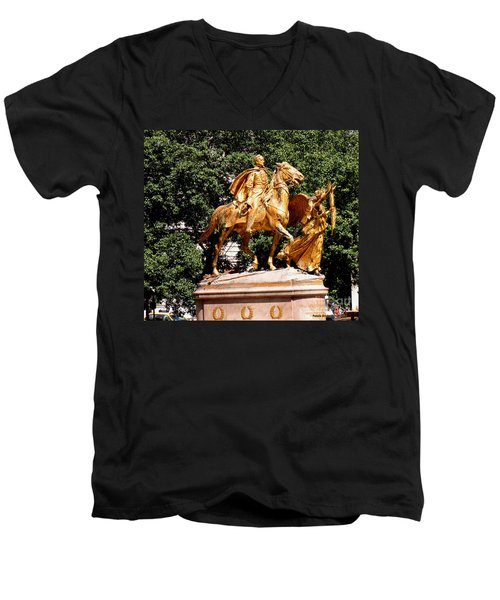 Men's V-Neck T-Shirt featuring the photograph God's Protection by Luther Fine Art