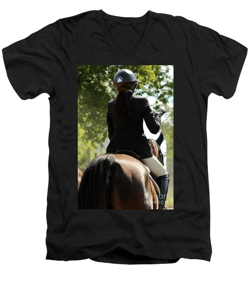 Going Over The Course Men's V-Neck T-Shirt