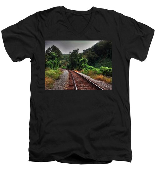 Men's V-Neck T-Shirt featuring the photograph Going Somewhere by Janice Spivey