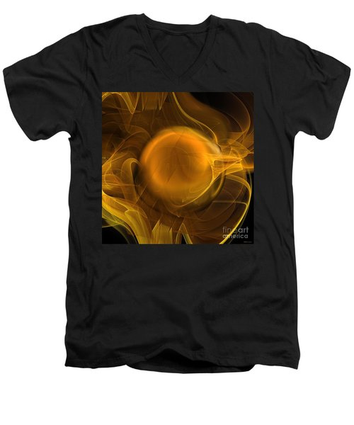 Gold Men's V-Neck T-Shirt
