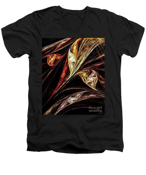 Gold Leaf Men's V-Neck T-Shirt