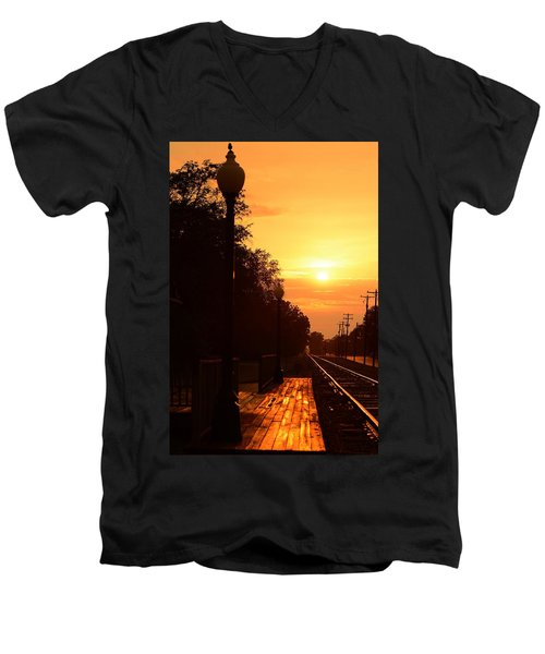 Golden Age Of Rails Men's V-Neck T-Shirt