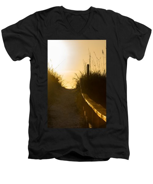Golden Beach Access Men's V-Neck T-Shirt