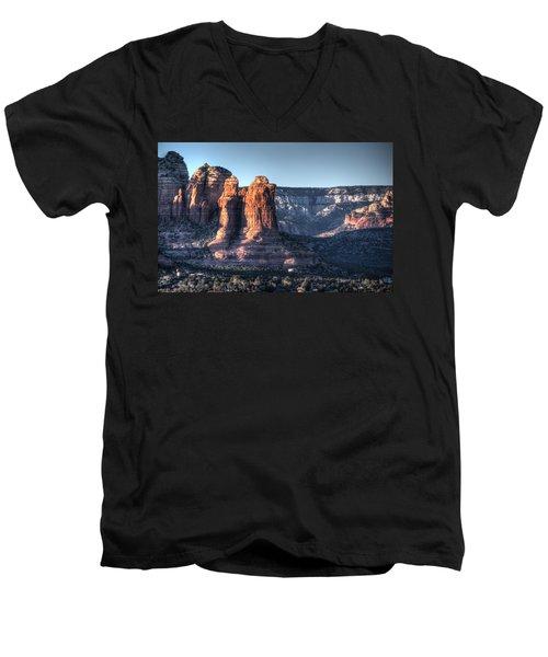 Men's V-Neck T-Shirt featuring the photograph Golden Buttes by Lynn Geoffroy