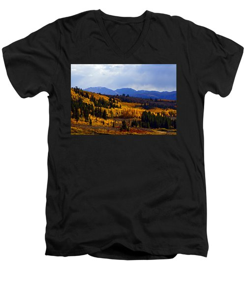 Golden Fourteeners Men's V-Neck T-Shirt